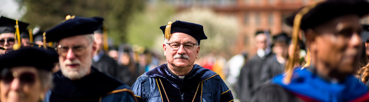 president at commencement
