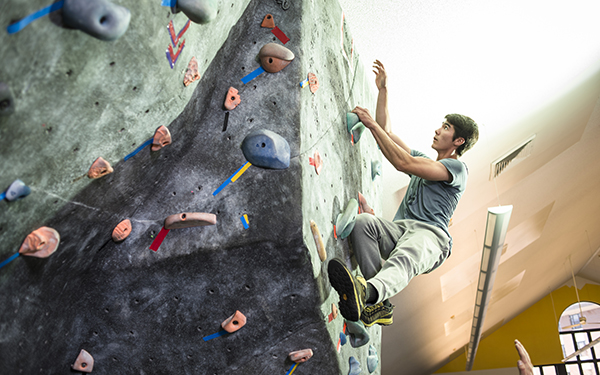 climbing indoor rock wall