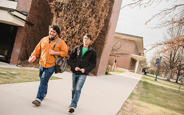 students walking on commons